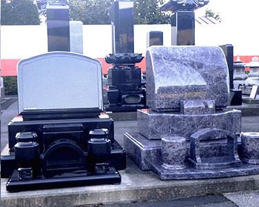 インド黒御影石 洋型墓石