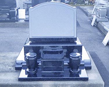 インド緑 御影石洋型墓石