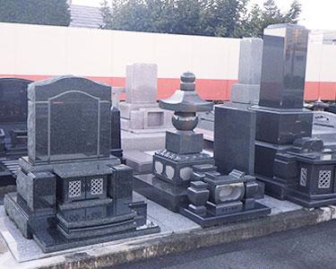 インド緑 自然風洋型墓石