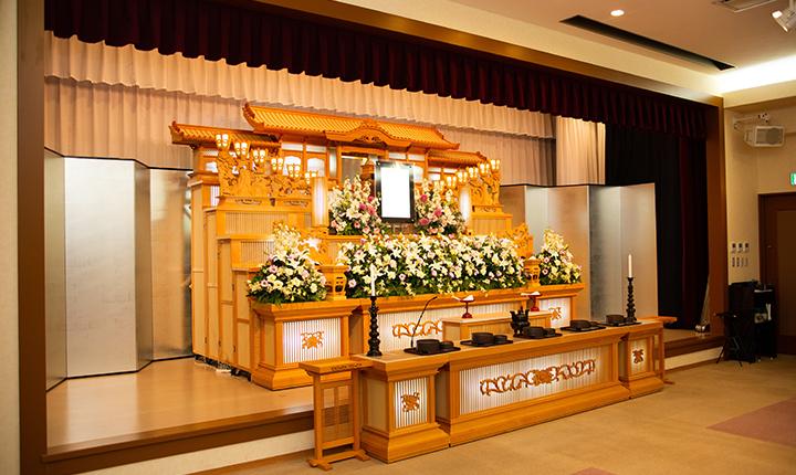 様々な葬儀に対応した式場